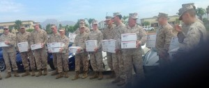 The Inland Empire Chapter donates care packages to the Marines at March ARB